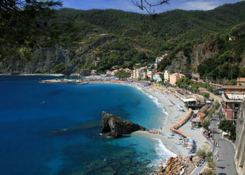 Monterosso Boasts Two Pebbly Beaches Both Very Por In The Summer Facilities Available Include Sun Lounger Umbrella Hire Showers And Restrooms
