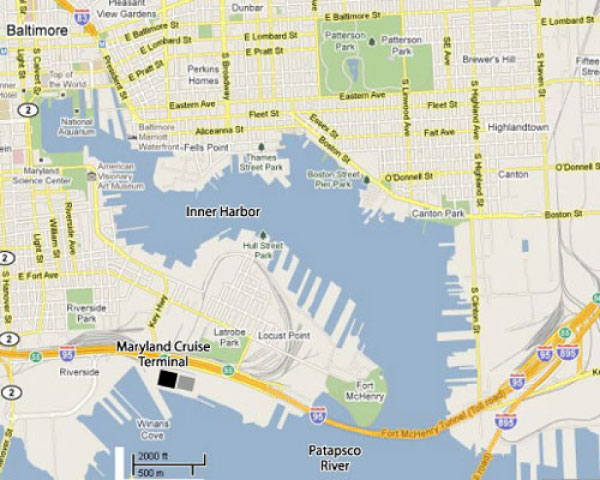 Cruises From Baltimore Maryland – Baltimore Tourist Map