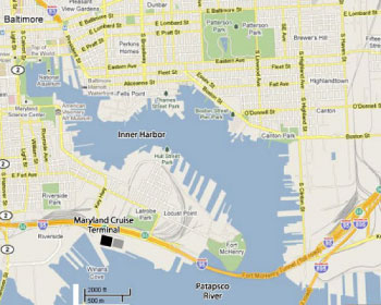Baltimore Cruise Port Map