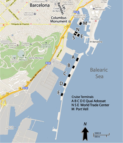 Cruises From Barcelona Spain Barcelona Cruise Ship Departures