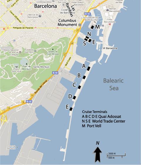 Barcelona, Spain Cruise Ships Schedule January - June 2019