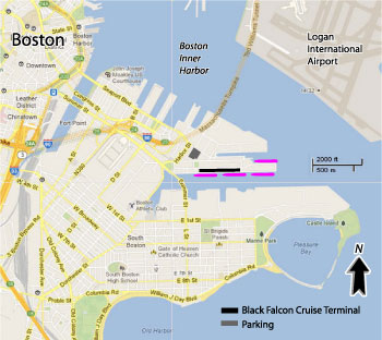 Boston Cruise Port Map