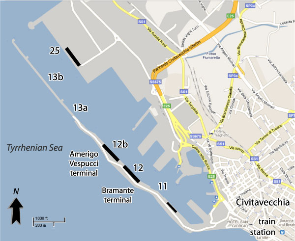 how to get to rome from civitavecchia port
