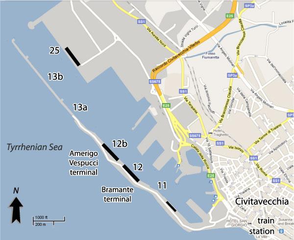 Boarding process in civitavecchia cruise critic message - Train from rome to port of civitavecchia ...