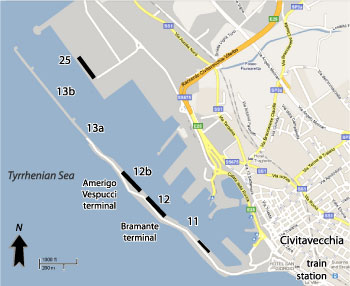 Civitavecchia Cruise Port Map
