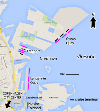 Copenhagen Cruise Port Map