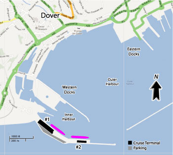 Dover Cruise Port Map