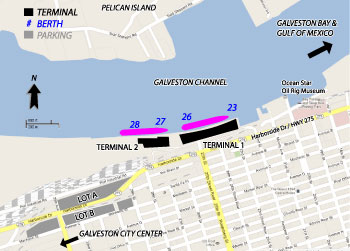 Galveston Cruise Port Map