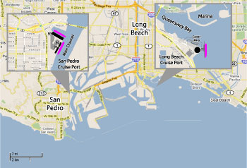 Los Angeles Cruise Port Map