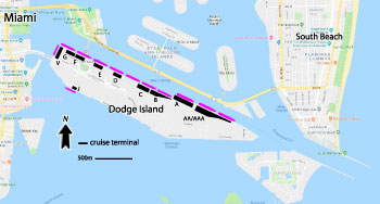 Miami Cruise Port Map