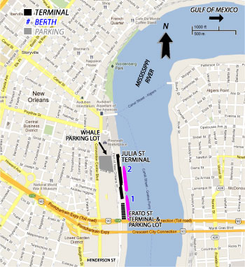 New Orleans Cruise Port Map