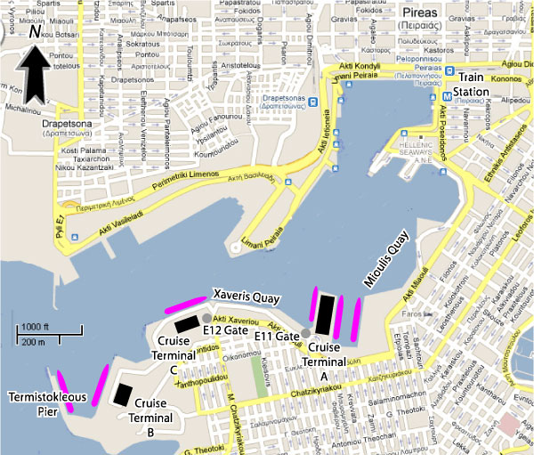 Cruises From Piraeus Athens Greece Cruise: Venice Cruise Ship Terminal Map At Infoasik.co