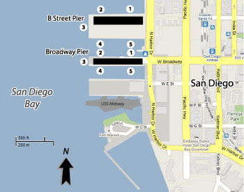 San Diego Cruise Port Map