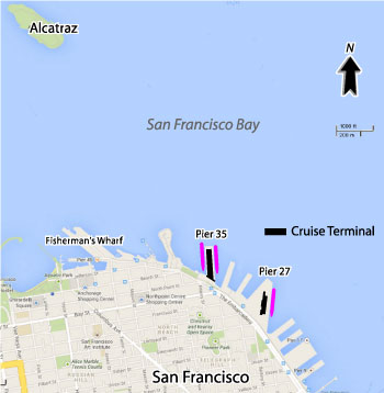 San Francisco Cruise Port Map