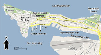 San Juan Cruise Port Map