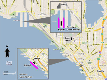 Seattle Cruise Port Map