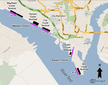 Southampton Cruise Port Map