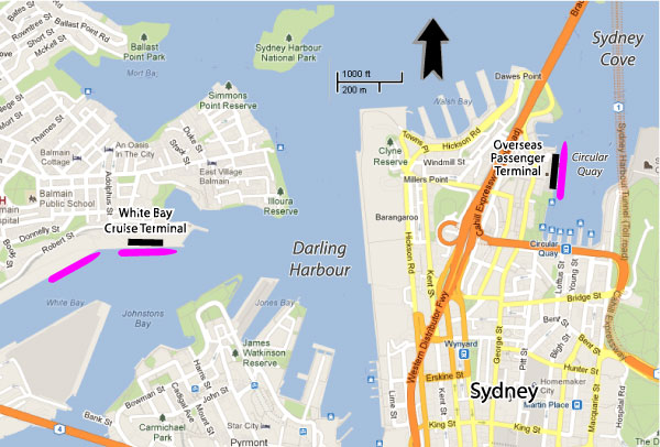Cruises From Sydney Australia Sydney Cruise Ship Departures - Sydney airport to cruise ship terminal