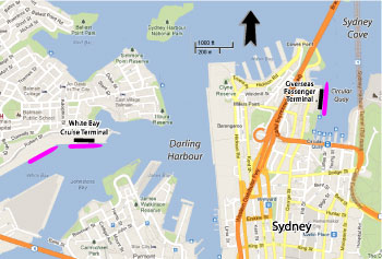 Sydney Cruise Port Map