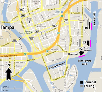 Tampa Cruise Port Map