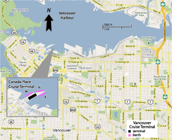 Vancouver Cruise Port Map