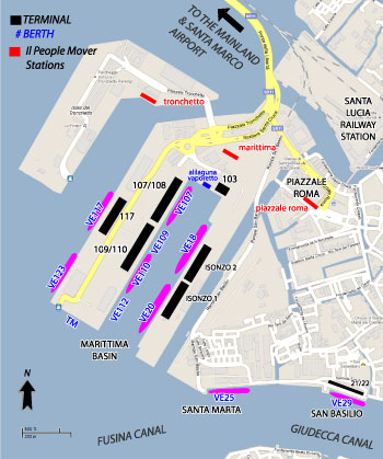 Venice Cruise Port Map