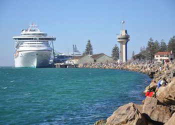 Cruise ship docked at Port Adelaide, Australia