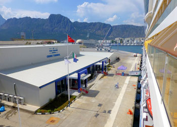 AIDAdiva berthed at Port Akdeniz cruise terminal, Antalya, Turkey!Ralf Patzold!http://www