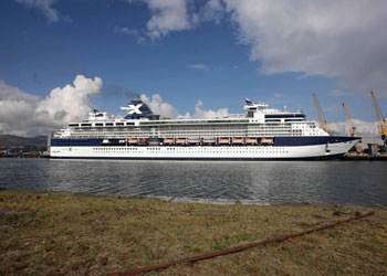 Celebrity Constellation moored at Belfast harbour, Northern Ireland