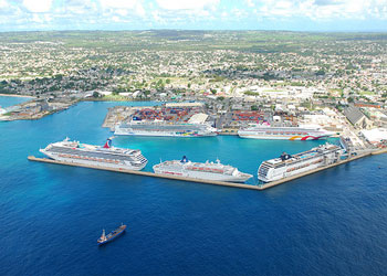 Aerial View of  Bridgetown Harbor