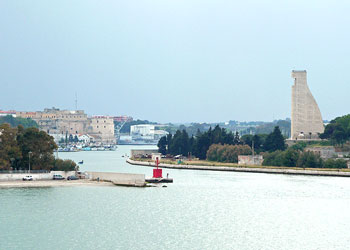 The port of Brindisi, Italy