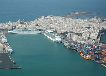 The Port and Old City of Cadiz, Spain