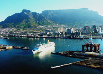 The spectacular port of Cape Town, South Africa