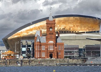 The waterfront at Cardiff, Wales