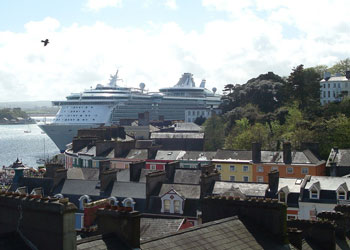 Independence Of The Seas moored at Cobh, Cork, Ireland