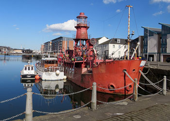 North Carr Lightship at Dundee, Scotland