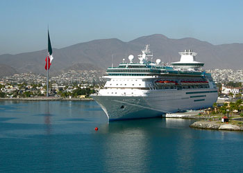 RC's Monarch Of The Seas moored at Ensenada Cruise Port, Mexico