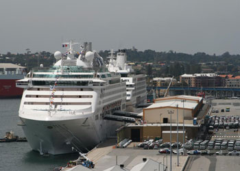 The cruise terminal at Fremantle, Australia