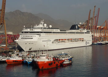 MSC Lirica docked at the Port of Fujairah, United Arab Emirates