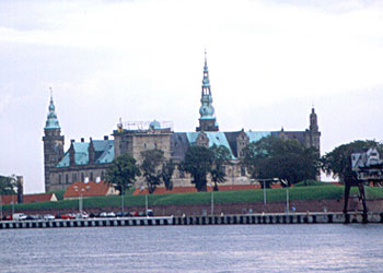 Kronborg Castle on the waterfront of Helsingor, Denmark
