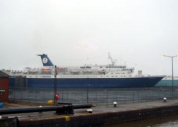 Cruise and Maritime's Ocean Countess at Hull's King George Dock, England