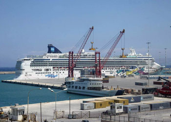 Norwegian Jewel at the Port of Iraklion (also called Heraklion), Crete
