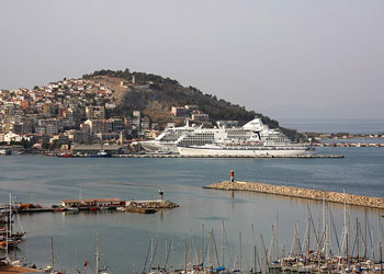 Cruise ships in harbor at Kusadasi, Turkey