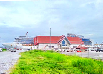 Star Princess docked at the Laem Chabang Cruise Terminal, Thailand