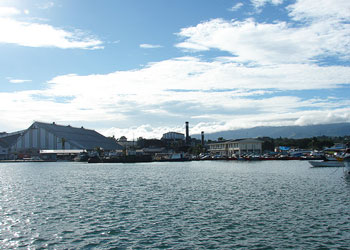 The port of Lautoka, Fiji