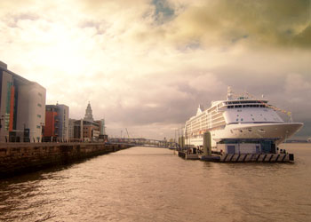 The Cruise Terminal at Liverpool, England