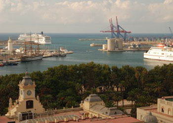 The port of Malaga, Spain