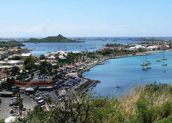 The town and harbor of Marigot, St Martin