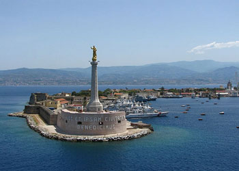 The Golden Madonna della Lettera, the protector of the harbor at Messina, Sicily