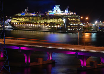 The Port of Miami - 'Liberty of the Seas' at berth